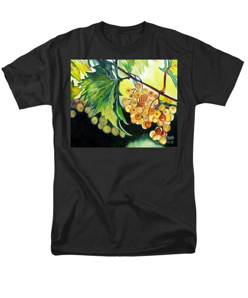Men's T-Shirt  (Regular Fit) featuring the painting Golden Grapes by Julie Brugh Riffey