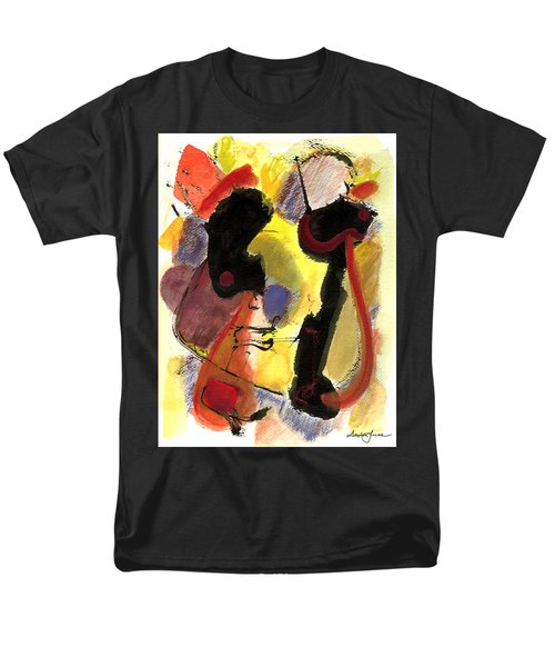 Men's T-Shirt  (Regular Fit) featuring the painting Golden Moon 2 by Stephen Lucas