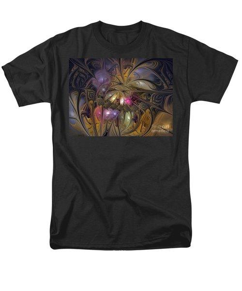 Golden Ornamentations-fractal Design Men's T-Shirt  (Regular Fit) by Karin Kuhlmann