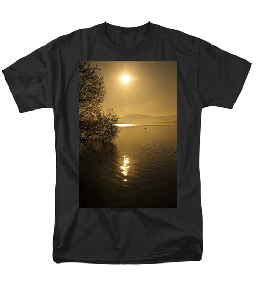 Men's T-Shirt  (Regular Fit) featuring the photograph Golden Ullswater Evening by Meirion Matthias
