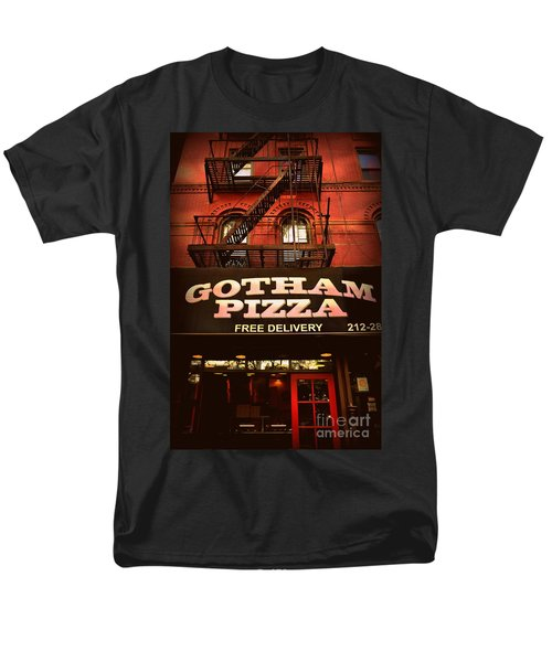 Gotham Pizza Men's T-Shirt  (Regular Fit) by Miriam Danar