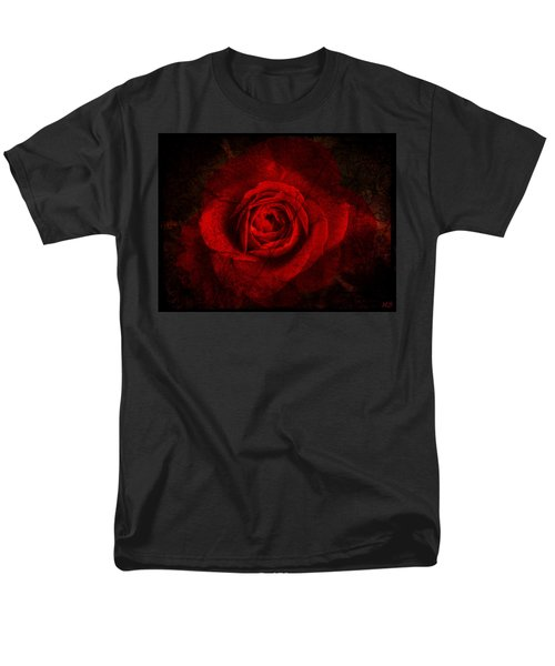 Gothic Red Rose Men's T-Shirt  (Regular Fit) by Absinthe Art By Michelle LeAnn Scott