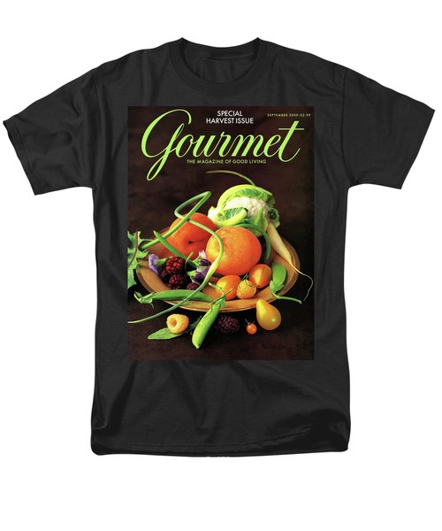 Gourmet Cover Featuring A Variety Of Fruit Men's T-Shirt  (Regular Fit) by Romulo Yanes