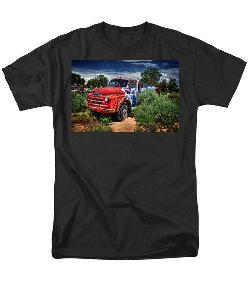 Men's T-Shirt  (Regular Fit) featuring the photograph Grafitti Fire Truck by Ken Smith