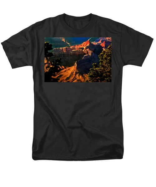 Grand Canyon At Sunset Men's T-Shirt  (Regular Fit) by Bob and Nadine Johnston