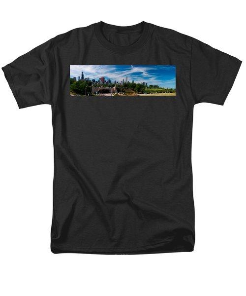 Grant Park Chicago Skyline Panoramic Men's T-Shirt  (Regular Fit) by Adam Romanowicz