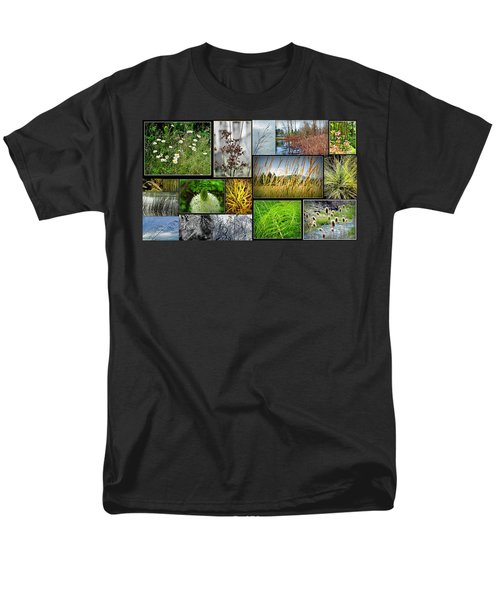 Grass Collage Variety Men's T-Shirt  (Regular Fit) by Tikvah's Hope