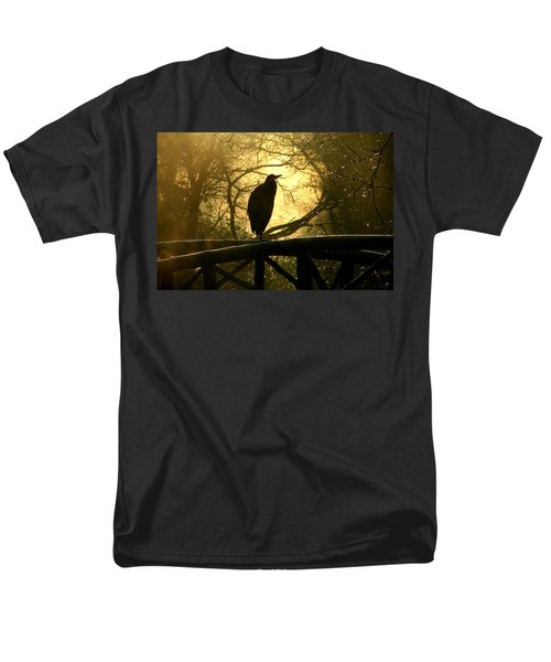 Great Blue Heron Silhouette Men's T-Shirt  (Regular Fit) by Brian Chase