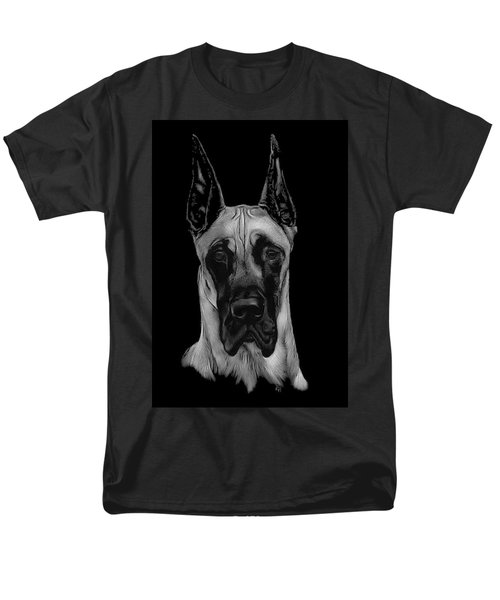Men's T-Shirt  (Regular Fit) featuring the drawing Great Dane by Rachel Hames