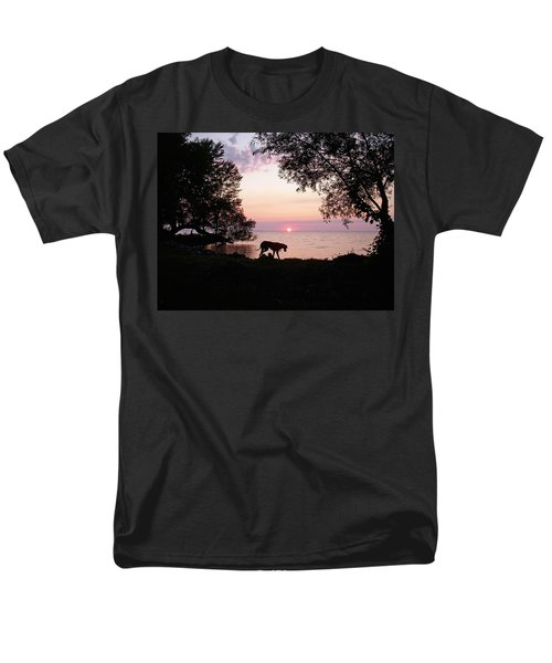 Men's T-Shirt  (Regular Fit) featuring the photograph Great Dane Sunset by Aimee L Maher Photography and Art Visit ALMGallerydotcom