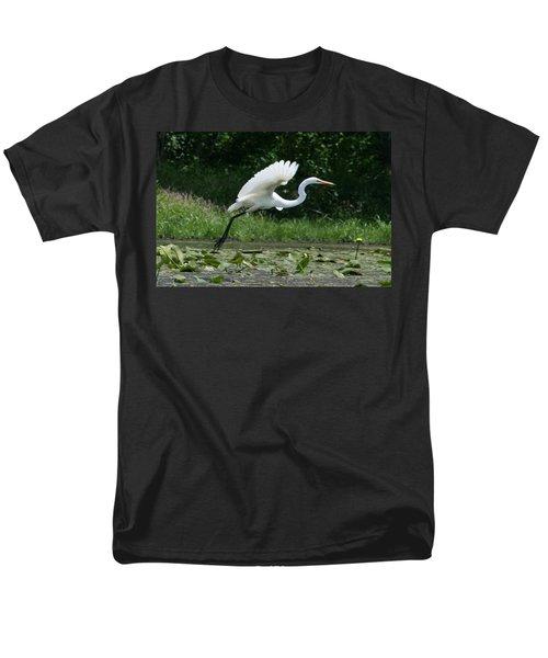 Great Egret Elegance   Men's T-Shirt  (Regular Fit)