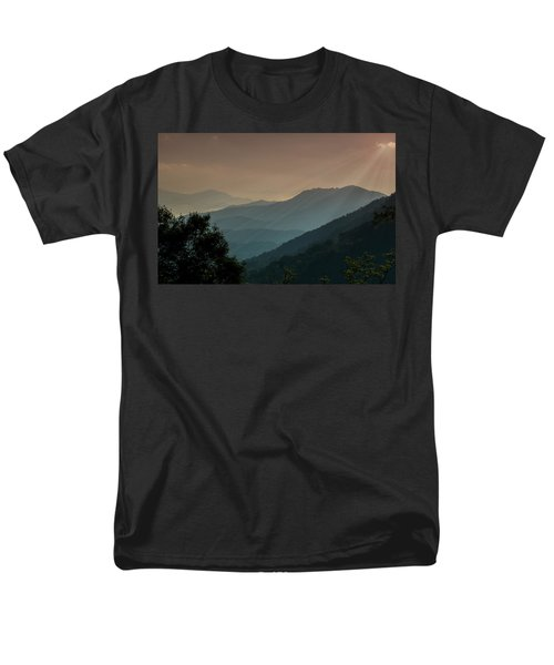Men's T-Shirt  (Regular Fit) featuring the photograph Great Smoky Mountains Blue Ridge Parkway by Patti Deters