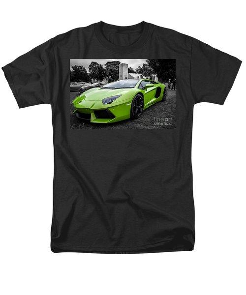 Men's T-Shirt  (Regular Fit) featuring the photograph Green Aventador by Matt Malloy