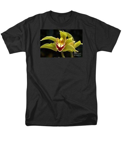 Green Orchid Flower Men's T-Shirt  (Regular Fit) by Joy Watson