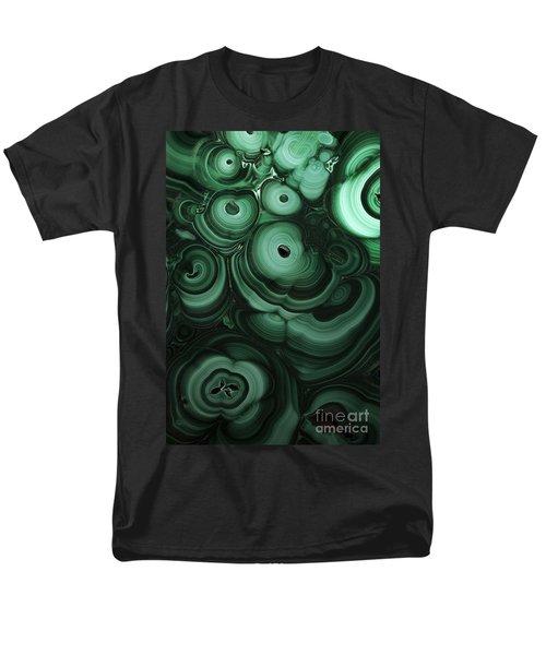 Green Patterns Of Malachite Men's T-Shirt  (Regular Fit)