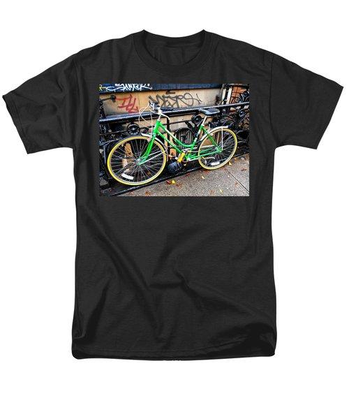 Green Schwinn Bike  Nyc Men's T-Shirt  (Regular Fit) by Joan Reese