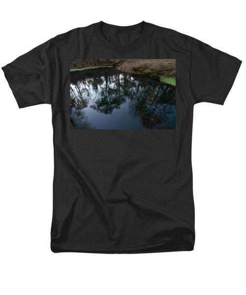 Men's T-Shirt  (Regular Fit) featuring the photograph Green Sink Reflection by Paul Rebmann