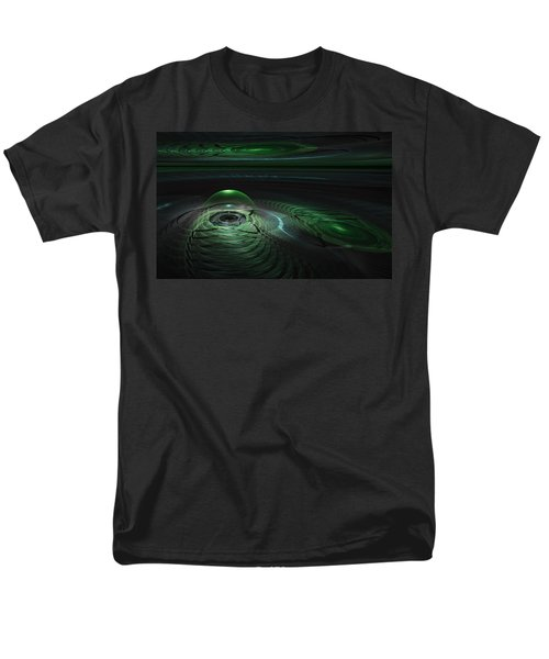 Men's T-Shirt  (Regular Fit) featuring the digital art Greenland Outpost by GJ Blackman