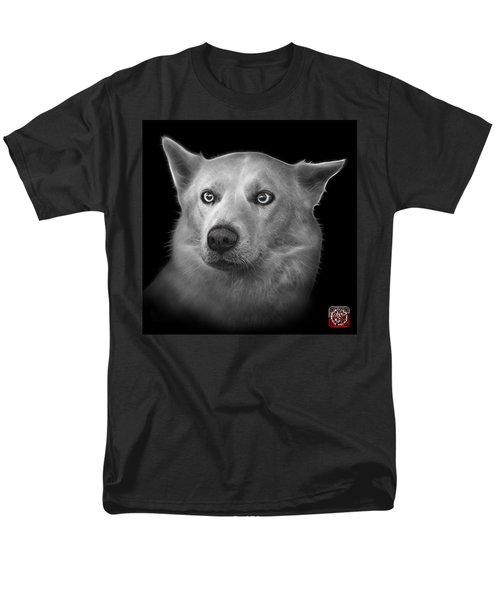 Greyscale Mila - Siberian Husky - 2103 - Bb Men's T-Shirt  (Regular Fit) by James Ahn