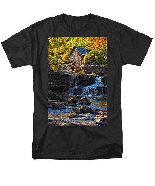 Grist Mill In Babcock State Park West Virginia Men's T-Shirt  (Regular Fit) by Kathleen K Parker