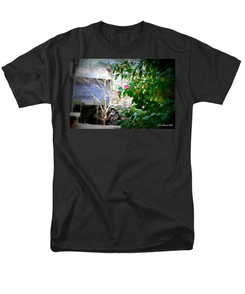Men's T-Shirt  (Regular Fit) featuring the photograph Grist Mill Roses by Tara Potts