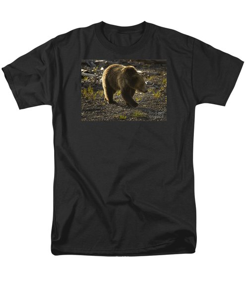 Grizzly Bear-signed-#4429 Men's T-Shirt  (Regular Fit) by J L Woody Wooden