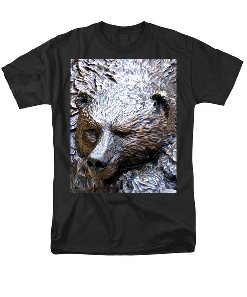 Grizzly Men's T-Shirt  (Regular Fit) by Charlie and Norma Brock