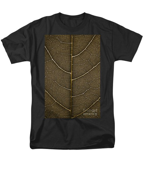 Men's T-Shirt  (Regular Fit) featuring the photograph Grunge Leaf Detail by Carsten Reisinger