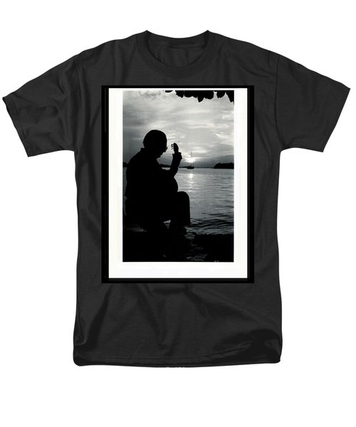 Guitarist By The Sea Men's T-Shirt  (Regular Fit) by The Art of Alice Terrill