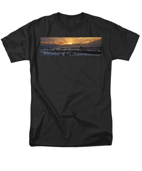 Men's T-Shirt  (Regular Fit) featuring the digital art Gulf Shores From Pavilion by Michael Thomas
