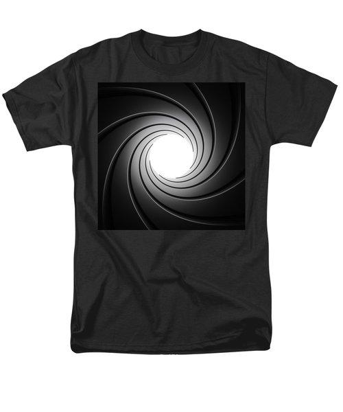 Gun Barrel From Inside Men's T-Shirt  (Regular Fit) by Johan Swanepoel