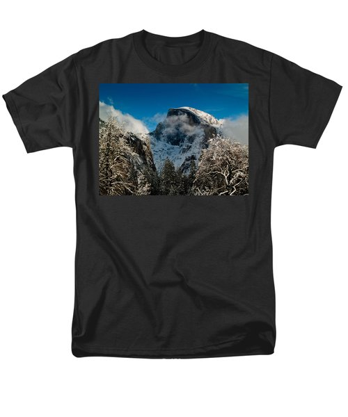 Half Dome Winter Men's T-Shirt  (Regular Fit) by Bill Gallagher