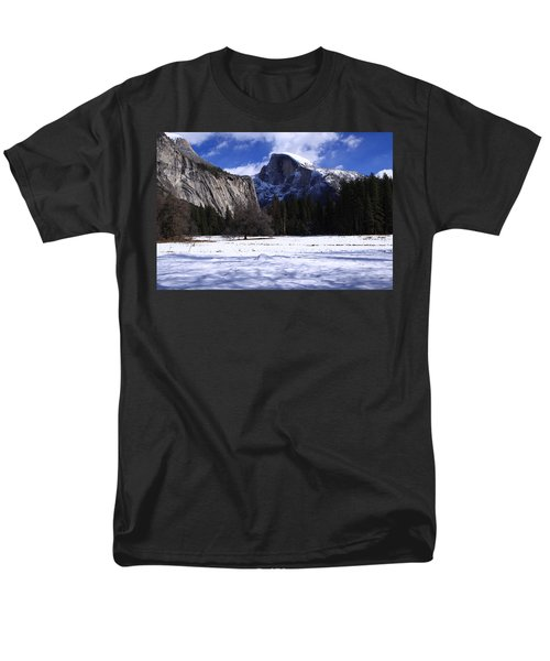 Half Dome Winter Snow Men's T-Shirt  (Regular Fit) by Duncan Selby