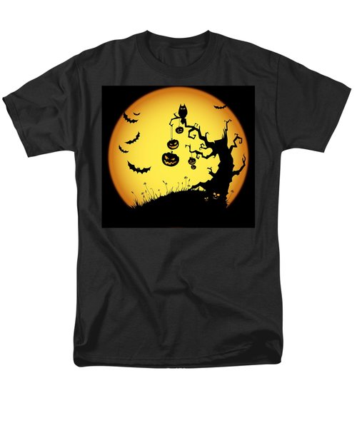 Men's T-Shirt  (Regular Fit) featuring the photograph Halloween Haunted Tree by Gianfranco Weiss