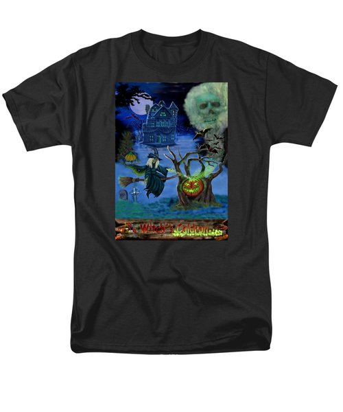 Halloween Witch's Coldron Men's T-Shirt  (Regular Fit) by Glenn Holbrook