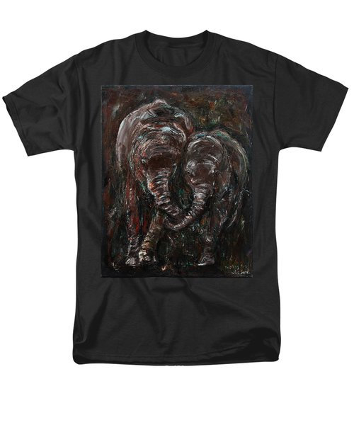 Men's T-Shirt  (Regular Fit) featuring the painting Hand In Hand by Xueling Zou