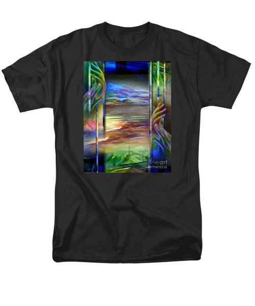 Men's T-Shirt  (Regular Fit) featuring the painting Hands-prisoned by Allison Ashton