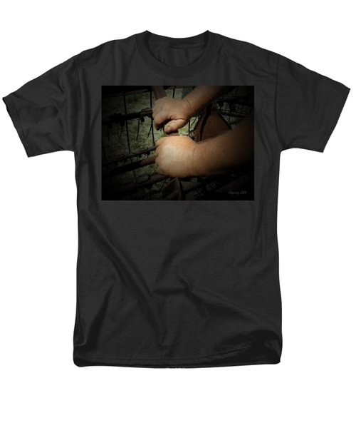 Men's T-Shirt  (Regular Fit) featuring the photograph Hands That Feed The World by Cynthia Lassiter