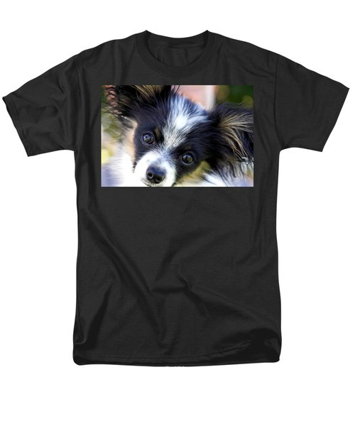 Men's T-Shirt  (Regular Fit) featuring the photograph Hanna The Papillon Puppy by Karon Melillo DeVega