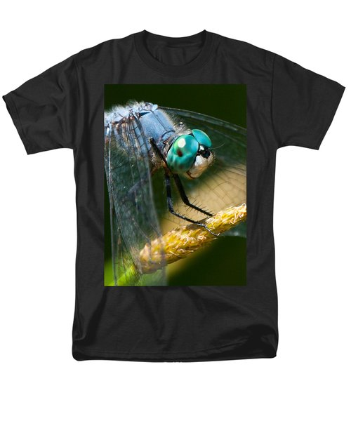 Happy Blue Dragonfly Men's T-Shirt  (Regular Fit) by Janis Knight