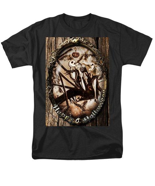 Happy Halloween IIi Sepia Version Men's T-Shirt  (Regular Fit) by Alessandro Della Pietra