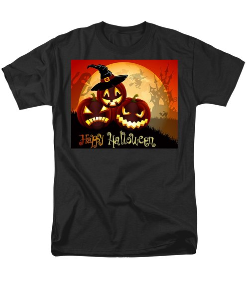 Men's T-Shirt  (Regular Fit) featuring the painting Happy Halloween by Gianfranco Weiss