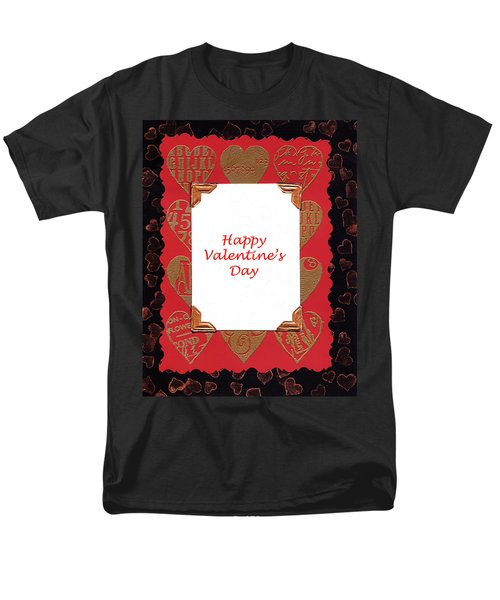 Men's T-Shirt  (Regular Fit) featuring the photograph Happy Valentines Day Card by Vizual Studio