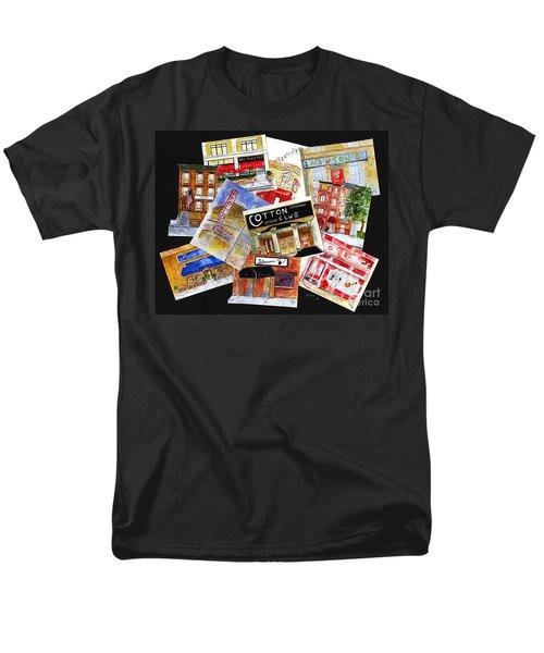 Harlem Jazz Clubs Men's T-Shirt  (Regular Fit) by AFineLyne