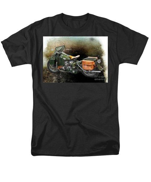 Harley Davidson 1942 Experimental Army Men's T-Shirt  (Regular Fit) by Barbara McMahon