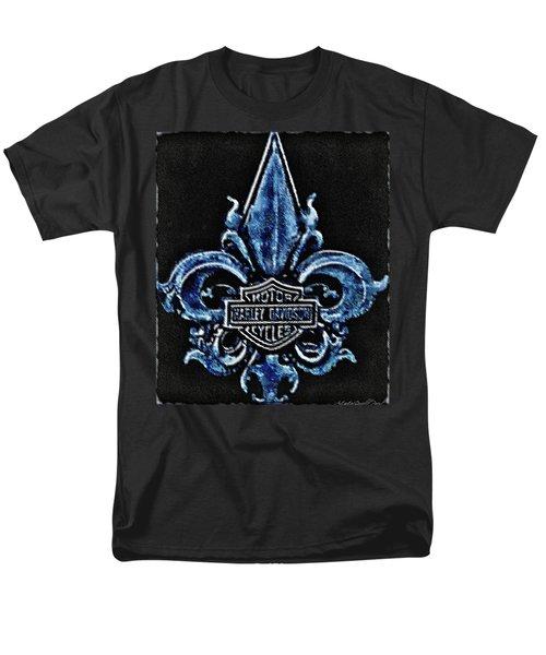 Harley Davidson Fleur De Lys Logo Men's T-Shirt  (Regular Fit) by Danielle  Parent
