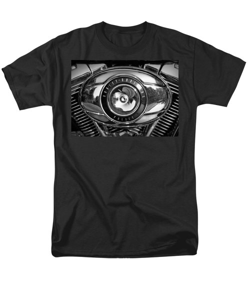 Harley-davidson Police B And W Men's T-Shirt  (Regular Fit) by Cricket Hackmann
