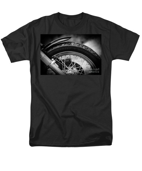 Men's T-Shirt  (Regular Fit) featuring the photograph Harley Davidson Tire by Carsten Reisinger