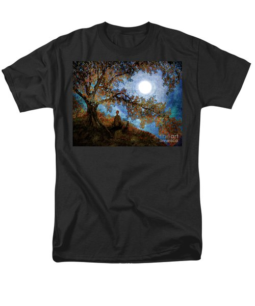Harvest Moon Meditation Men's T-Shirt  (Regular Fit) by Laura Iverson