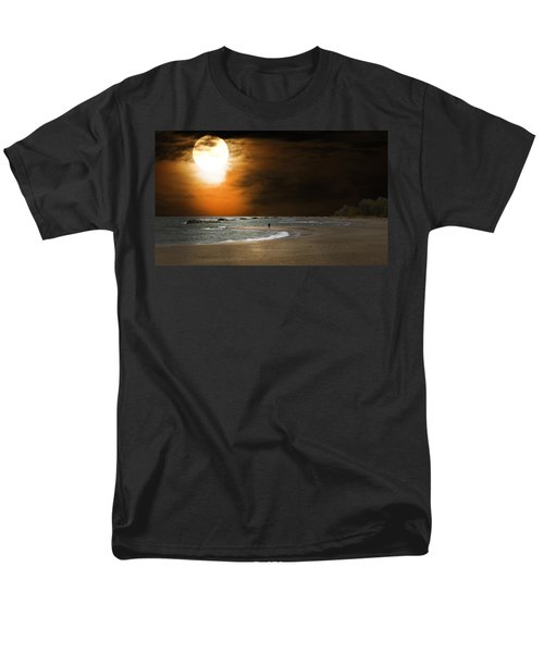 Harvest Moon On The Beach Men's T-Shirt  (Regular Fit) by Randall Branham